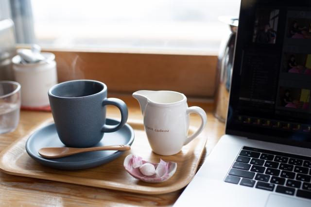 cafeで仕事